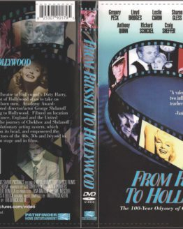DVD cover of From Russia To Hollywood with photos of Clint Eastwood, Marilyn MOnroe, Gary Cooper, Gregory Peck, Yul Brynner, Mala Powers and Jame Dean