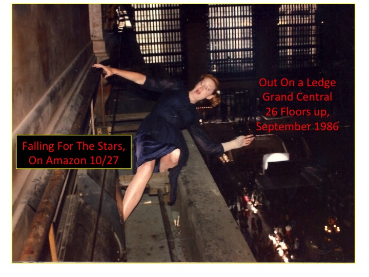 Stunt Gal Lisa Loving nearly falls off the 26th story ledge of Grand Central Station for kelly McGillis in House on Carroll Street