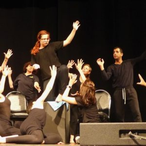 Performers improvise their ensemble body-mind-spirit Power Gestures.